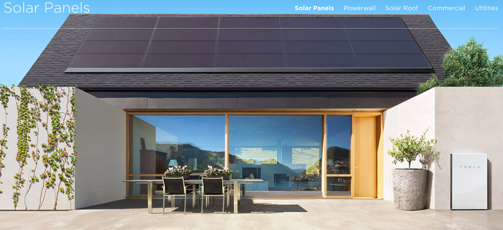Tesla Solar Power Page